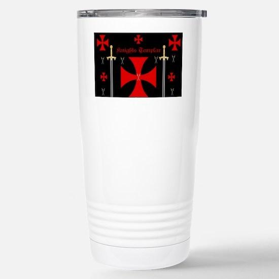 Knights Templar Stainless Steel Travel Mug