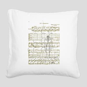 Angel Requiem Square Canvas Pillow