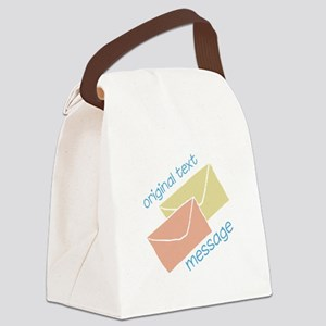 Text Message Canvas Lunch Bag