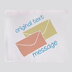 Text Message Throw Blanket
