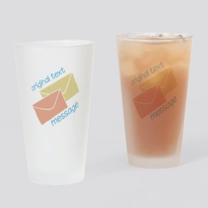 Text Message Drinking Glass