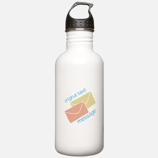 Text Message Water Bottle