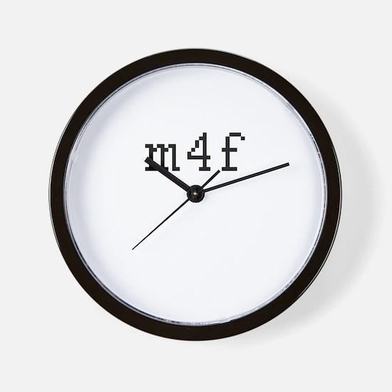 m4f Wall Clock