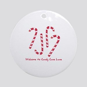 Welcome To Candy Cone Lane Ornament (Round)