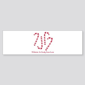 Welcome To Candy Cone Lane Bumper Sticker