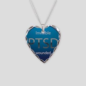 PTSD Necklace Heart Charm