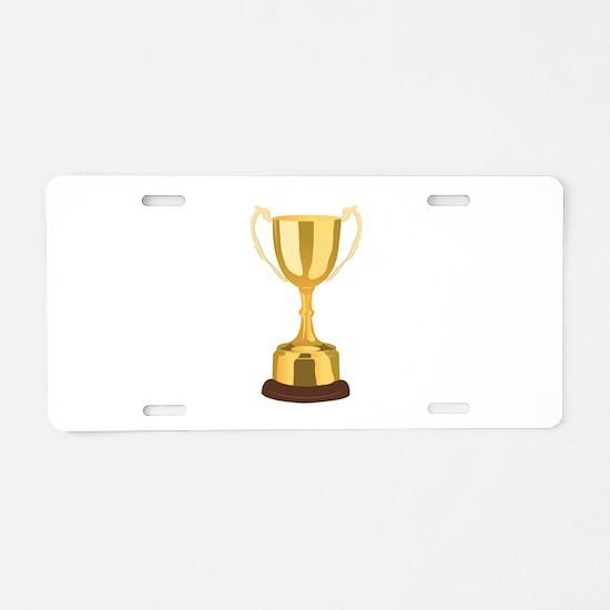 Trophy Aluminum License Plate