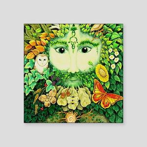 "The Green man Square Sticker 3"" x 3"""