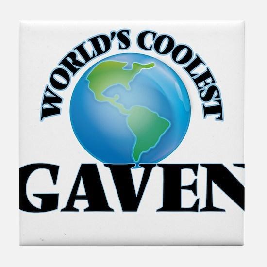 World's Coolest Gaven Tile Coaster