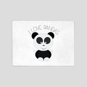 Love Pandas 5'x7'Area Rug