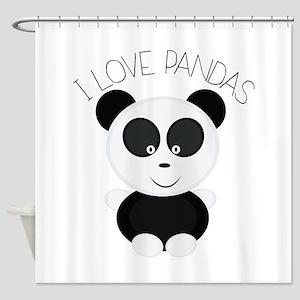 Love Pandas Shower Curtain