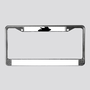 Jet ski jetskiing License Plate Frame
