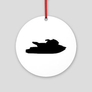 Jet ski jetskiing Ornament (Round)