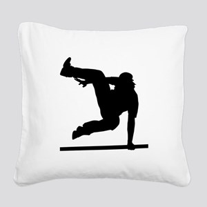 Parcouring Square Canvas Pillow