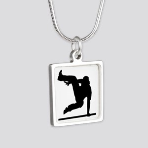 Parcouring Silver Square Necklace