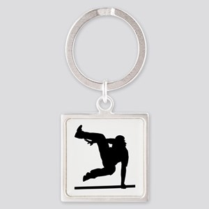 Parcouring Square Keychain