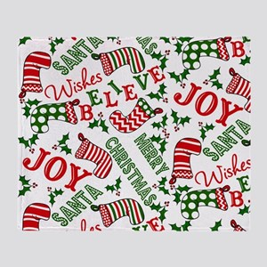 merry christmas joy Throw Blanket