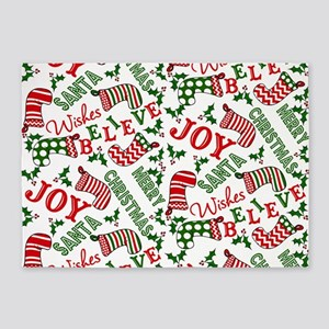 merry christmas joy 5'x7'Area Rug