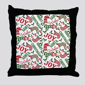 merry christmas joy Throw Pillow