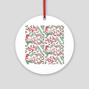 merry christmas joy Ornament (Round)