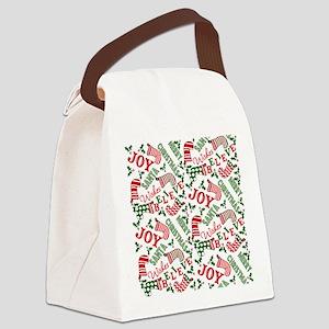 merry christmas joy Canvas Lunch Bag