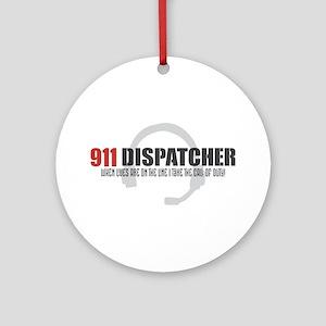 911 Dispatcher Round Ornament