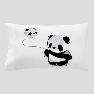Panda With Balloon Pillow Case