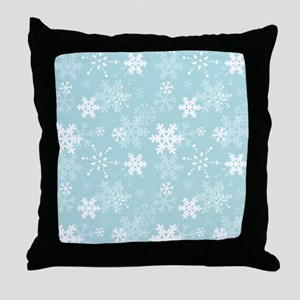 Snowflake Christmas Holiday Throw Pillow