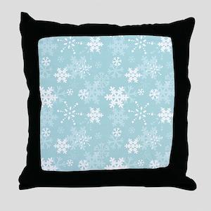 Snowflake Christmas Holiday Throw Pillow