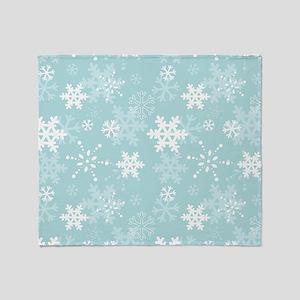Snowflake Christmas Holiday Throw Blanket