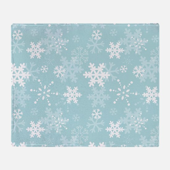Snowflake Christmas Holiday Throw Blanket