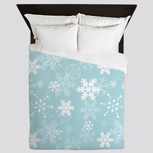 Snowflake Christmas Holiday Queen Duvet