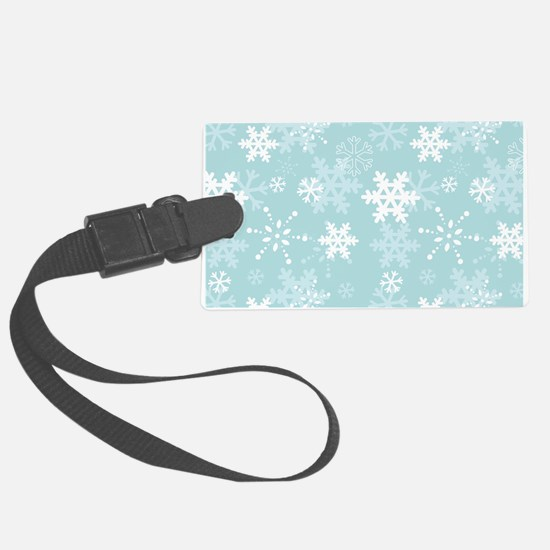 Snowflake Christmas Holiday Luggage Tag