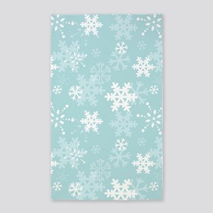Snowflake Christmas Holiday Area Rug
