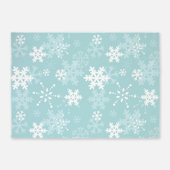 Snowflake Christmas Holiday 5'x7'Area Rug