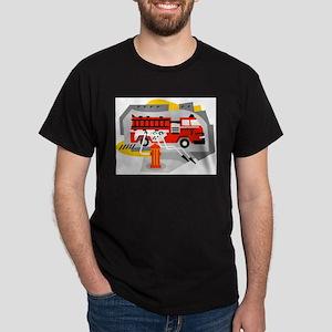 FIRE ENGINE_1 Dark T-Shirt