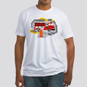 FIRE ENGINE_1 Fitted T-Shirt