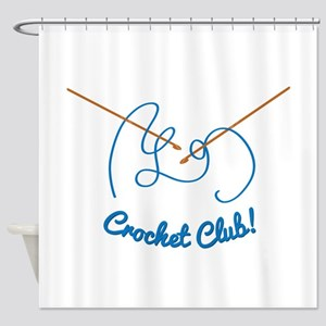 Crochet Club Shower Curtain