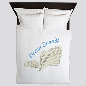 Ocean Sounds Queen Duvet