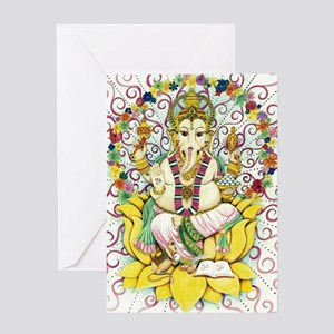Ganesha - the remover of obstacles Greeting Cards