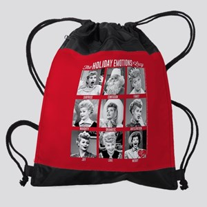 Lucy Holiday Emotions Drawstring Bag