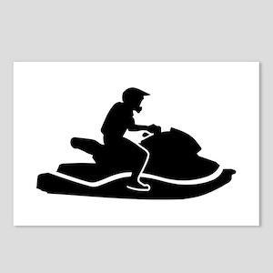 Jetski racing Postcards (Package of 8)