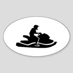 Jetski racing Sticker (Oval)