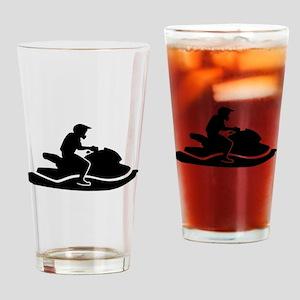 Jetski racing Drinking Glass