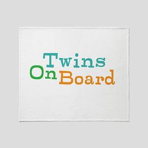 Twins On Board Throw Blanket
