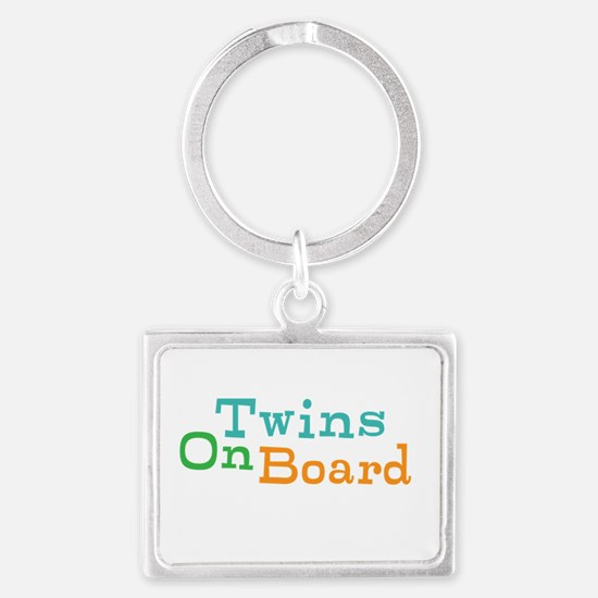 Twins On Board Keychains
