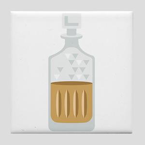 Whiskey Bourbon Bottle Tile Coaster
