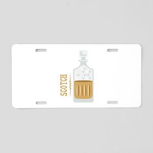 Bourbon Bottle Aluminum License Plate
