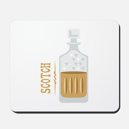Bourbon Bottle Mousepad