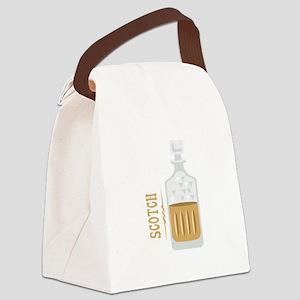 Bourbon Bottle Canvas Lunch Bag